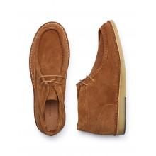 Selected - Boots en daim cognac