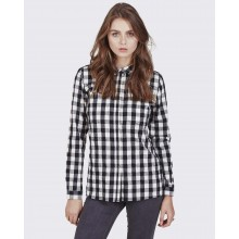 Minimum - Chemise femme à carreaux noirs et blancs