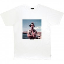 Bask in the sun - T-shirt blanc surréaliste