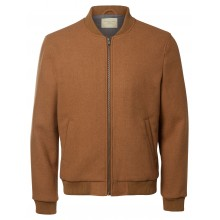 Selected - Veste teddy bomber camel