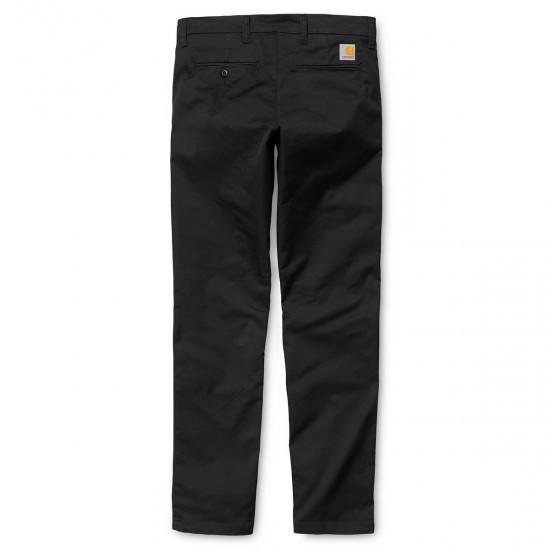 Carhartt - Pantalon chino Sid Pant noir