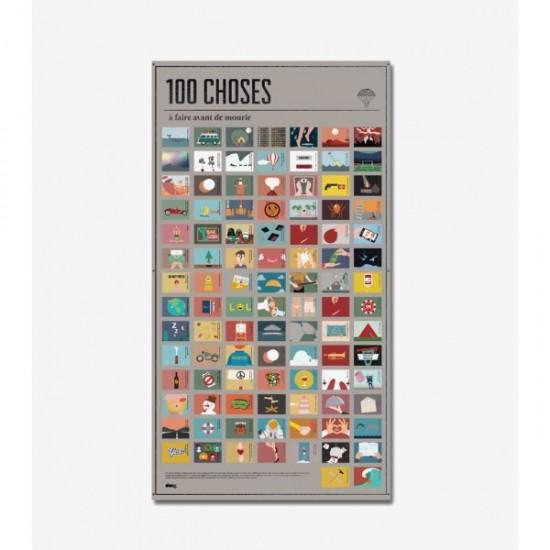 DOIY - Poster 100 choses à faire avant de mourir