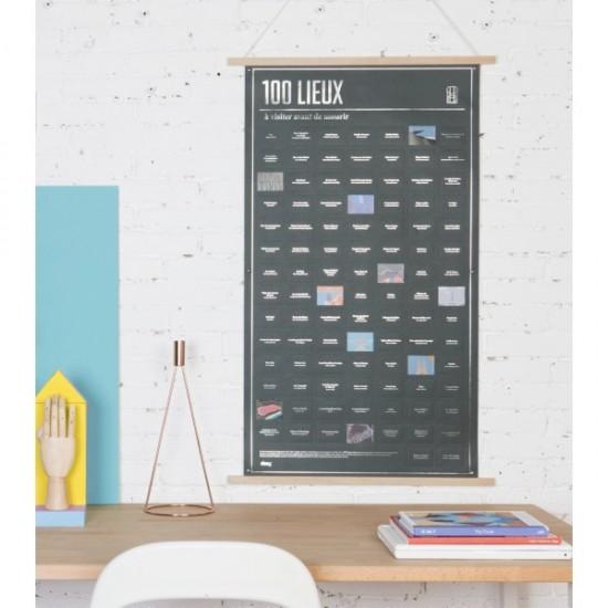 DOIY - Poster 100 lieux à visiter avant de mourir