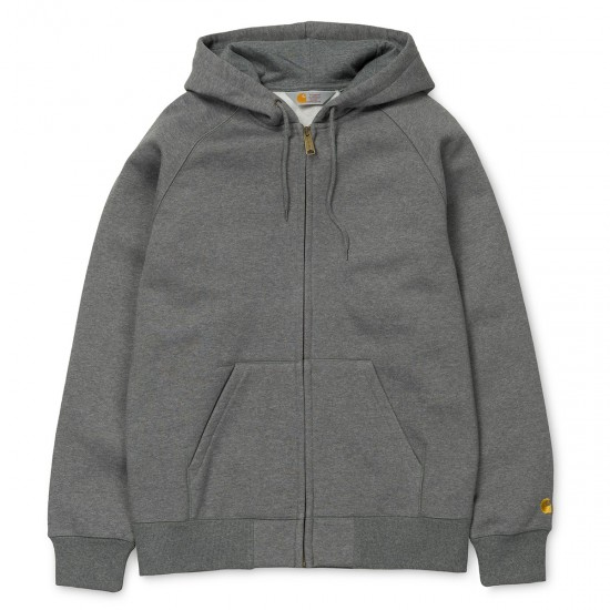 Carhartt - Pull à capuche zippé gris chiné