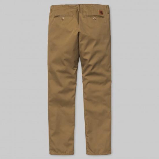 Carhartt - Pantalon chino club marron