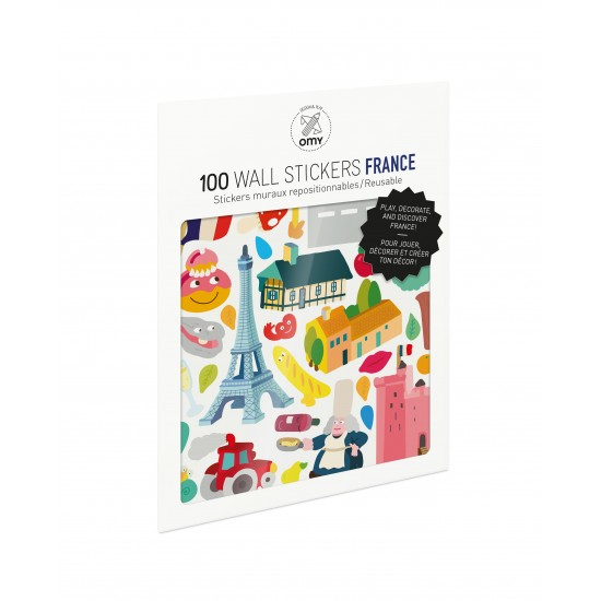 Omy - 100 stickers France