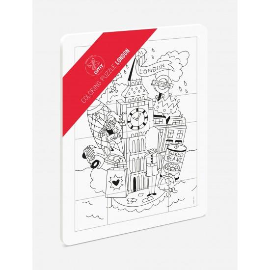 Omy - Puzzle à colorier Londres