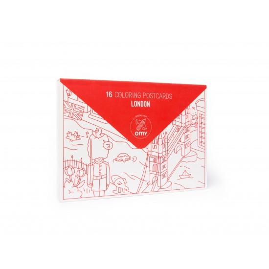 Omy - Carte postales à colorier Londres