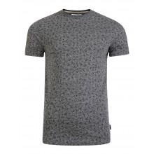 Bellfield - T-shirt gris imprimé triangles.