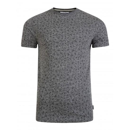 Bellfield - T-shirt gris imprimé triangles.