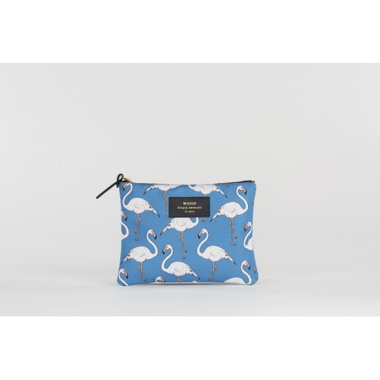 Woouf - Pochette large imprimé flamants