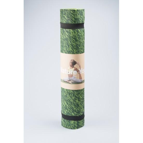 DOIY - Tapis de Yoga imprimé herbe fraîche