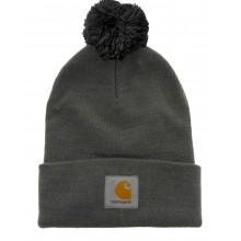 Carhartt - Bonnet à pompon gris watch hat