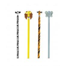 Kikkerland - Set de 4 crayons à papier safari