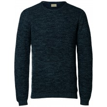 Selected homme - Pull bleu à mailles