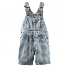 Salopette OshKosh denim rayée bleu délavé version short