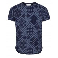 Anerkjendt - T-shirt marine manches courtes motifs bandana