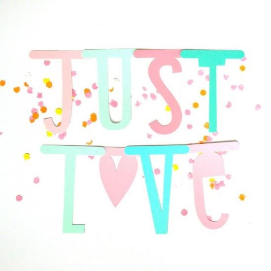 A Little Lovely - Letter Banner Pastel