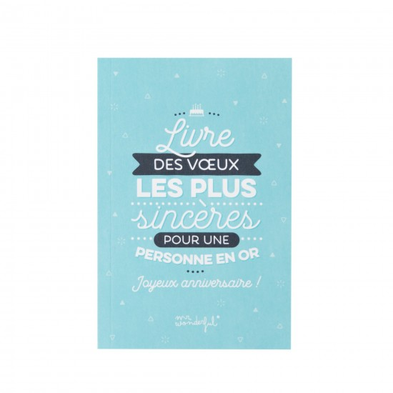 Mr wonderful - Livre d'anniversaire