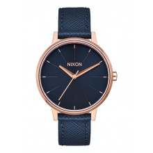 Nixon - Kensington Leather Navy/ Rose Gold