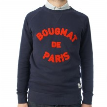 Bougnat de Paris - Sweat marine broderie rouge
