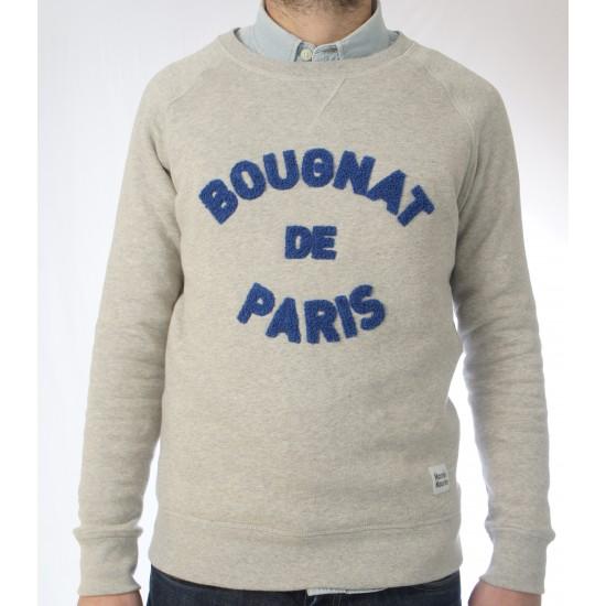Bougnat de Paris - Sweat gris broderie bleu
