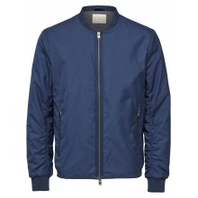 Selected - Veste teddy bomber marine