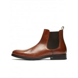 Selected - Boots en cuir marron