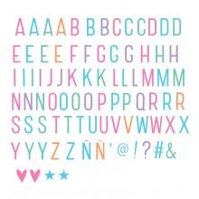 A Little Lovely - Pack de lettres et symboles pastel lightbox