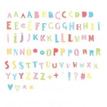 A Little Lovely - Pack de lettres et symboles funky color lightbox