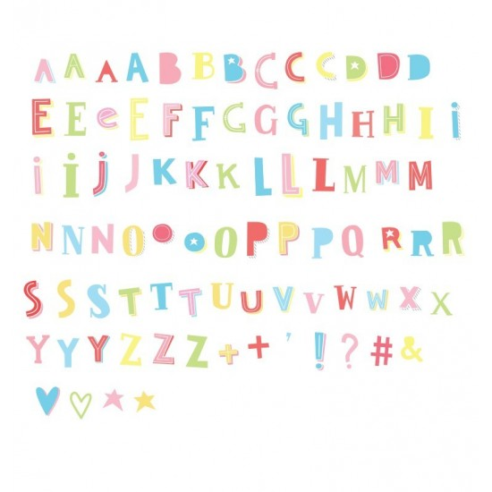 A Little Lovely - Pack de lettres et symboles funky color lightbox