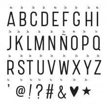 A Little Lovely - Pack de 85 lettres supplémentaires pour lightbox
