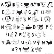 A Little Lovely - Kids ABC Pack et illustrations noires pour lightbox