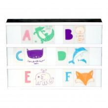 A Little Lovely - Kids ABC Pack et illustrations pastels pour lightbox