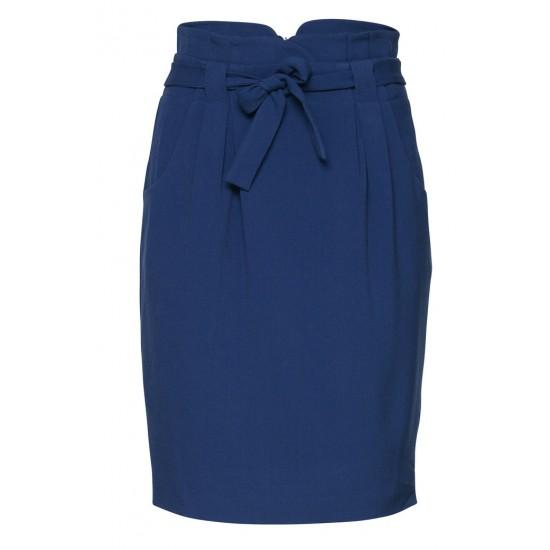 Ichi - Jupe bleue taille haute