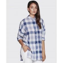 Minimum - Chemise femme à carreaux bleus et blancs