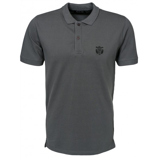 Selected - Polo gris avec broderie