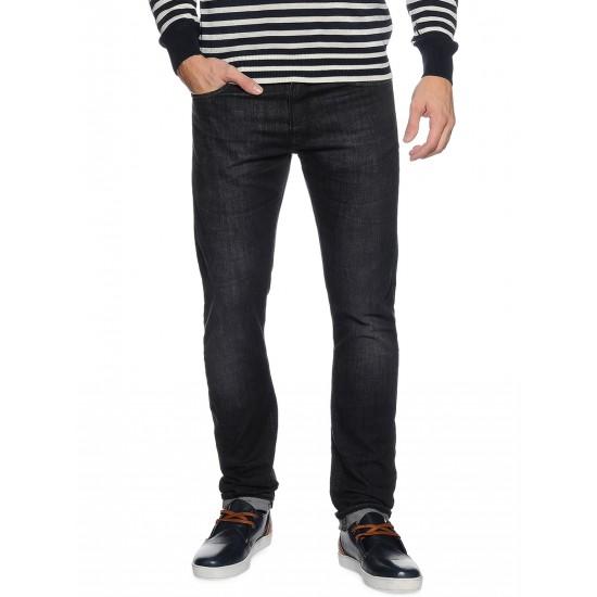 Selected homme - Jeans noir délavé coupe slim