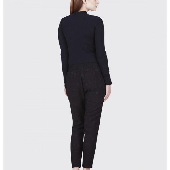 Minimum - Pantalon fluide à motifs noir