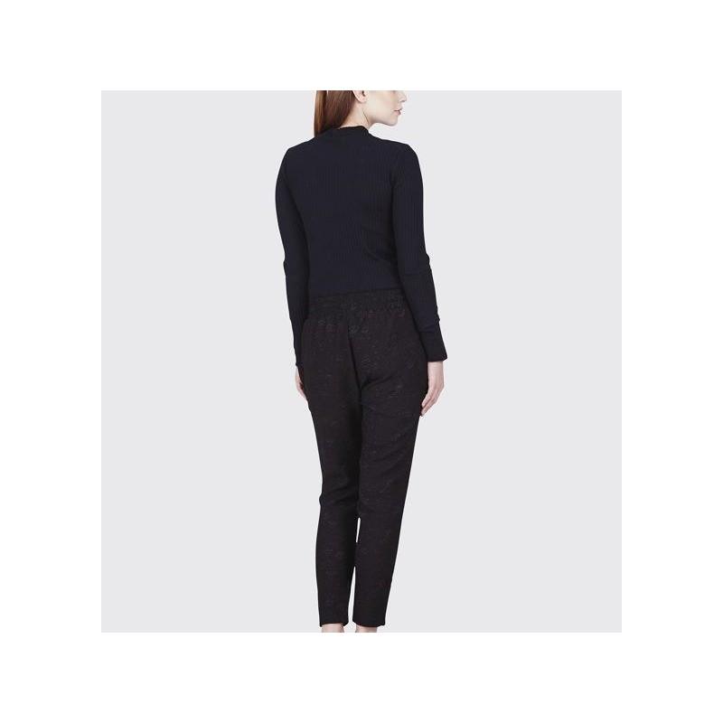 947f98ead692 Minimum - Pantalon fluide à motifs noir