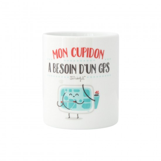 Mr wonderful - Mug Mon cupidon a besoin d'un gps