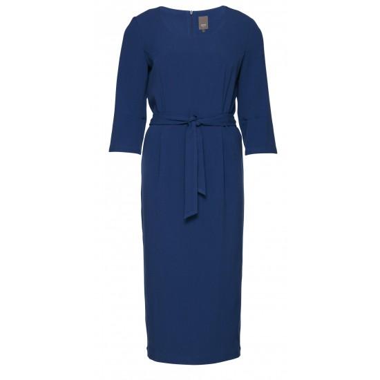 Ichi - Robe bleue ceinturée