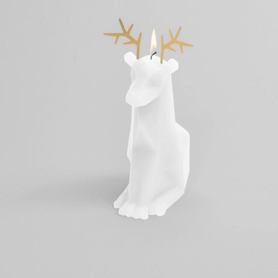 Pyropet - Bougie Renne squelette - blanc