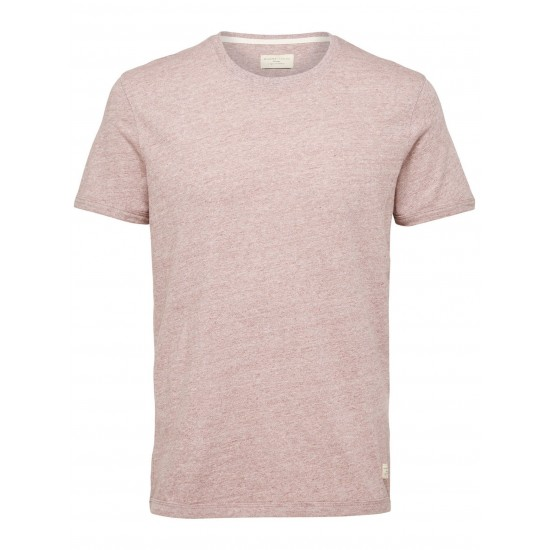 Selected homme - Tshirt marron clair chiné
