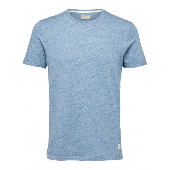 Selected homme - Tshirt bleu chiné