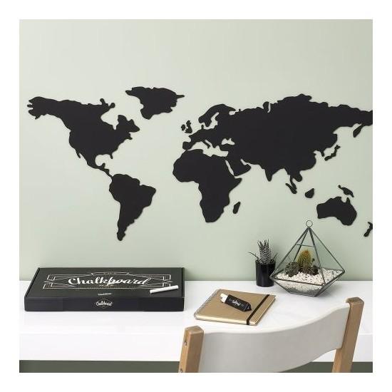 Luckies - Tableau noir carte du monde