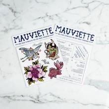 Mauviette | Planche Tatouage Alix Gé