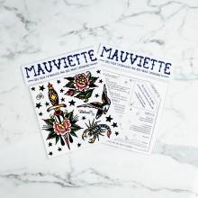Mauviette | Planche Tatouage Pierre Baillon