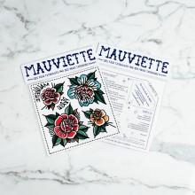 Mauviette | Planche Tatouage Perle/Flowers