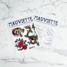 Mauviette | Planche Tatouage Original Guest